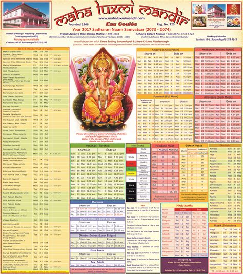 download hindu calendar 2017 with tithi panchang and