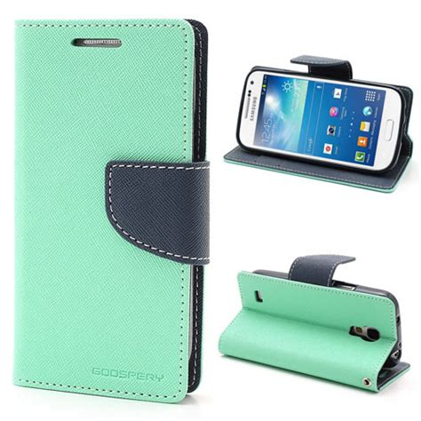 Wallet Mercury Iphone 4 samsung galaxy s4 mini hoesje fancy cyaan