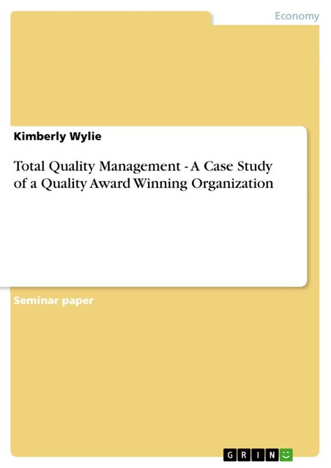 Mba Total Quality Management Pdf by Tqm Conclusion Aysegul Tunc E Organization Custom