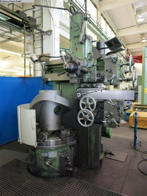 Lathes Schiess 12dke Vertical Turret Lathe Single Column