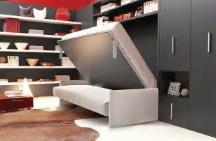 Grey Sofa Living Room Design Transformable Murphy Bed Over Sofa Systems That Save Up On