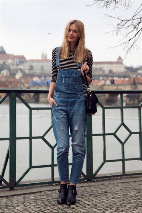 Overall Style how to wear ripped denim dungarees 2018
