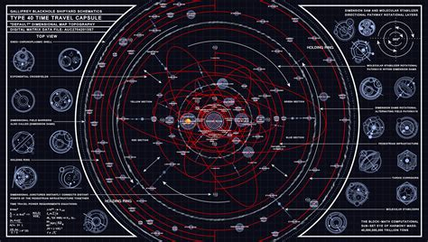 tardis diagram tardis type 40 dimensional map schematic by time lord