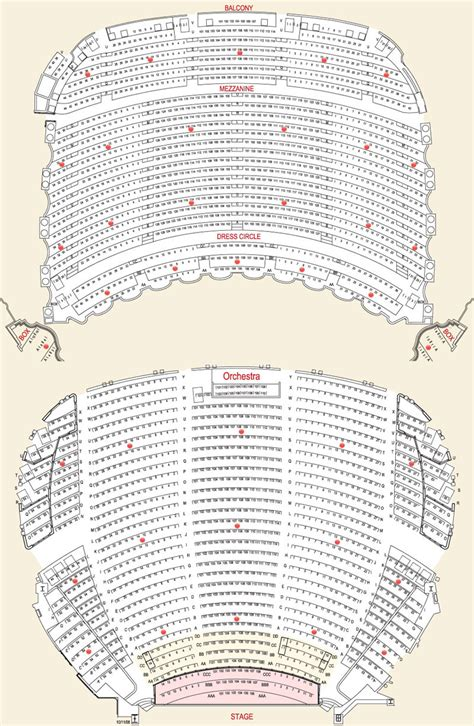 Opera House Seating Plan Boston Opera House Seating Chart Theatre In Boston