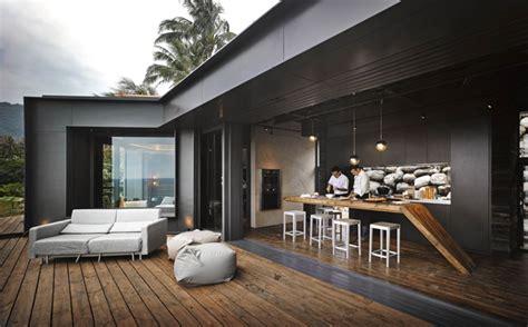 Exceptional Chambre Lambris Taupe #14: Pierre-parement-naturelle-terrasse-bois-composite-plafond-bois-design.jpg