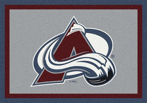 Team Rugs by Milliken Nhl Spirit 01071 Colorado Avalanche Team Area Rug