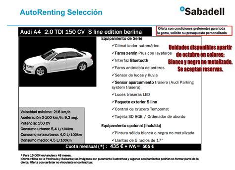 precios y condiciones renting banco sabadell en - Renting Banco