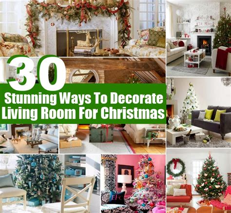 diy ways to decorate your room for christmas 30 stunning ways to decorate your living room for