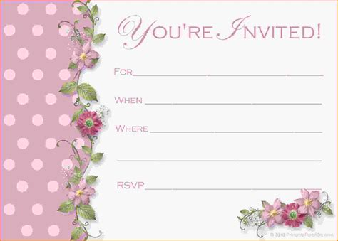 girly birthday invitations free printable futureclim info
