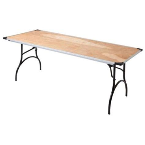 6 folding table home depot 6 ft commercial plywood folding table prt3072ply21 the