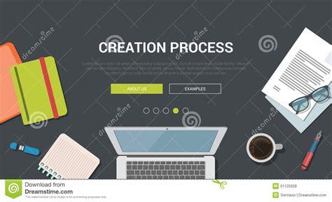 mockup design steps mockup modern flat design concept for creative creation