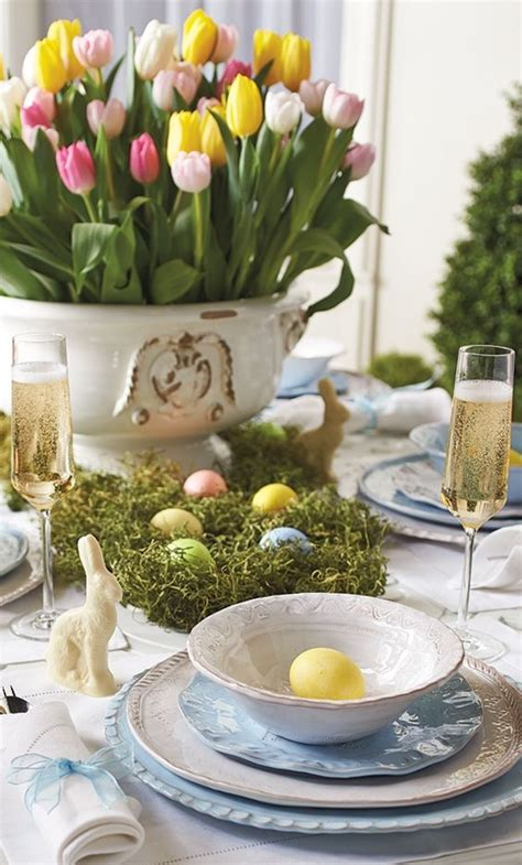 20 Easter Table Setting Ideas For A Festive Atmosphere Easter Dining Table Decorations