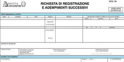 modello richiesta cassetto fiscale modello 69 cedolare secca agenzia delle entrate