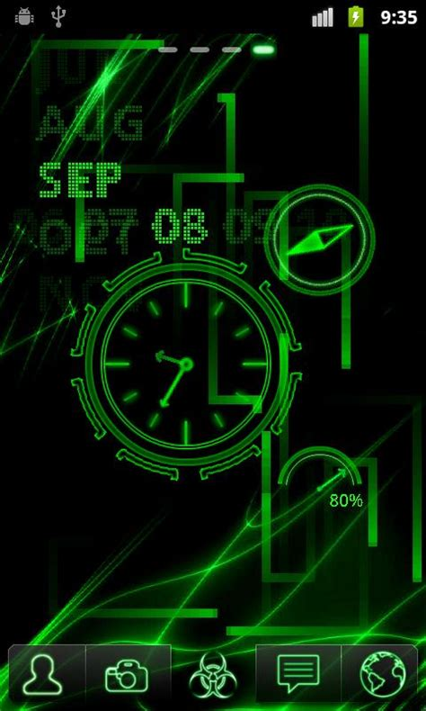 neon clock  wallpaper    android market