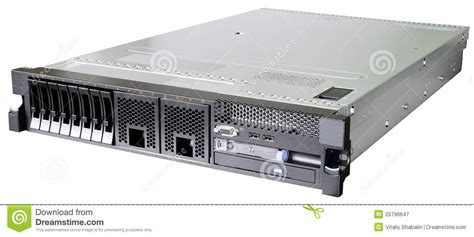 Rack Mounted Server by Rackmount Server White Royalty Free Stock Photography