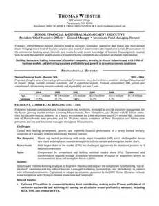 banking executive resume sample resumes design
