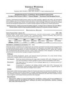Banking Executive Resume Sample Resumes Design