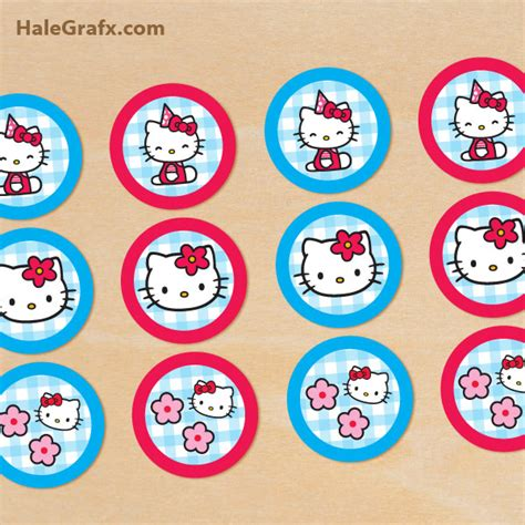 hello cupcake topper template free printable hello cupcake toppers