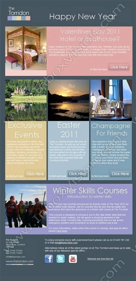 hotel newsletter layout company loch torridon hotel ltd subject happy new year