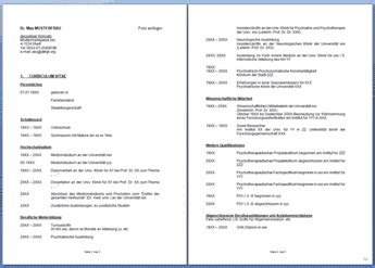 Lebenslauf Universitat Schweiz Curriculum Vitae Cv Template