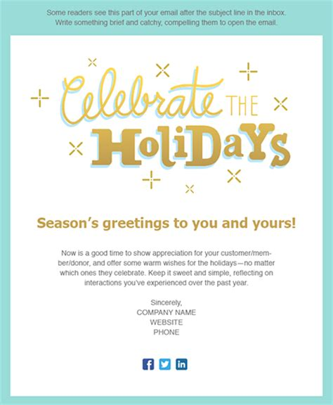 11 Holiday Email Templates For Small Businesses Nonprofits Constant Contact Happy New Year Template