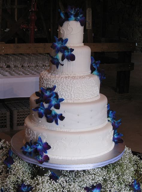 Wedding Cake Blue by S Cakes Blue Orchid Wedding Cake