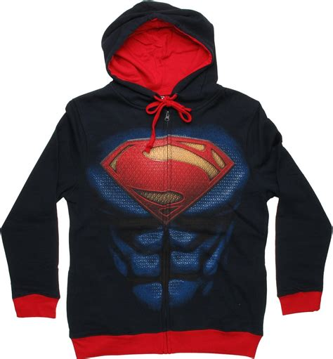 Jaket Hoodie Superman Navy superman of steel suit hoodie