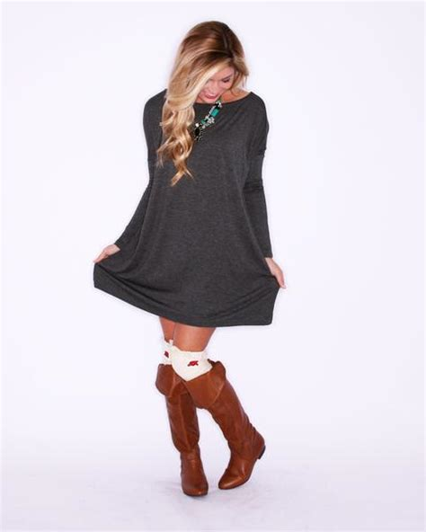 Tees Ls Hello Friday sleeve piko dress in grey impressions