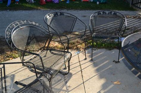 Removing Paint From Metal Furniture by How To Paint Metal Lawn Furniture Refresh Living