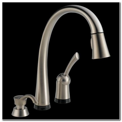delta no touch kitchen faucet delta touch faucet no light sink and faucet home