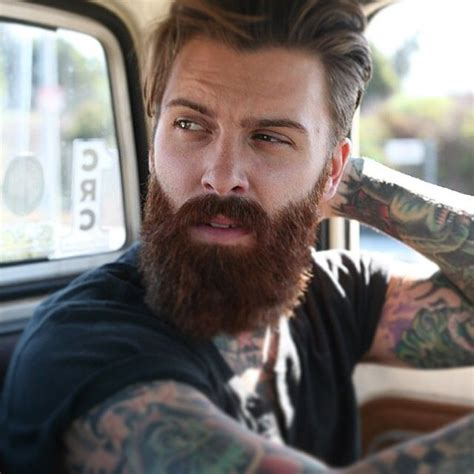 red beard tattoo levi stocke thick beard and mustache