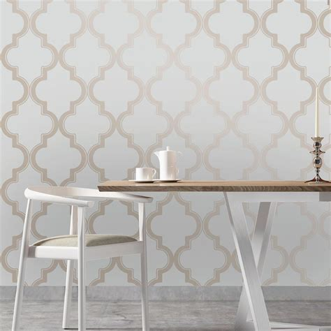 removable wallpaper uk moroccan trellis global bazaar grey beige removable wallpaper