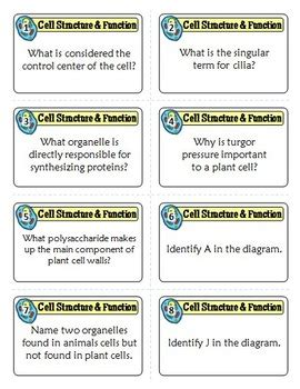 Cells Task Cards Cell Structure Task Cards 80 Cards With Editable Template Task Card Template 2
