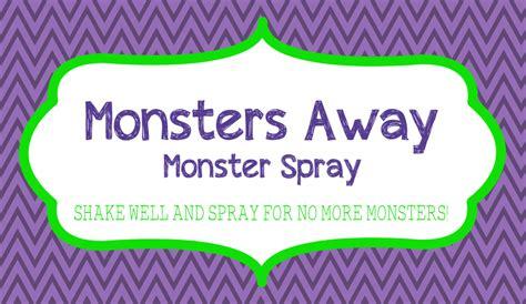 printable label for monster spray a modern day fairy tale september 2015