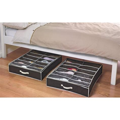 argos bed shoe storage buy home 2 underbed shoe storage boxes with lid at argos