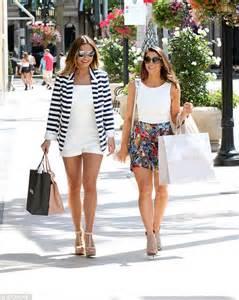 sam faiers and luisa zissman dress up for a shopping trip