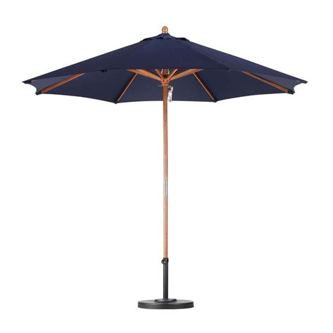 Market Patio Umbrellas Shop California Umbrella Sunline Navy Blue Market 9 Ft Patio Umbrella At Lowesforpros