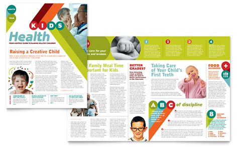 Pediatrician Child Care Newsletter Template Word Publisher Free Pediatric Brochure Templates