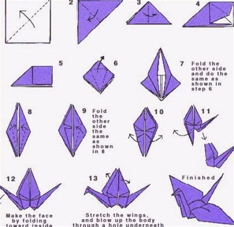 To Make Origami - step by step origami bird embroidery origami hairstyles