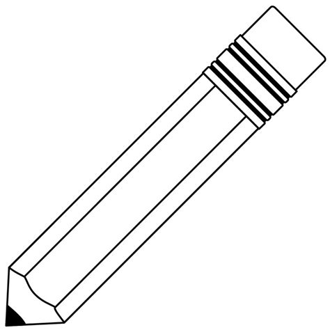 and white pencil clipart black and white clipartxtras