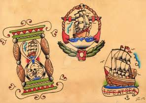 traditional sailor tattoo flash by david rigby on deviantart