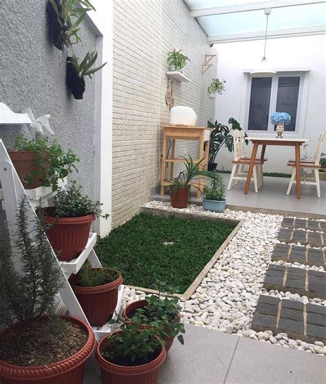 taman minimalis didalam rumah nuansa asri romantis keren abiss ide halaman belakang desain