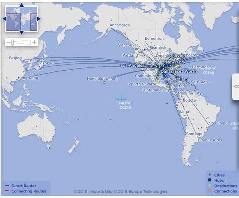 aa route map aa flight map adriftskateshop