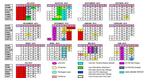 kalender pendidikan sd tahun pelajaran 2012 2013 sd