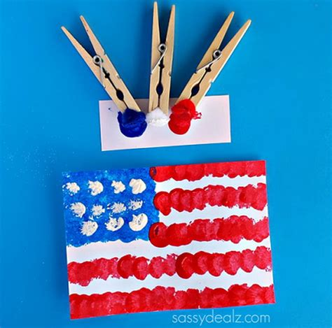 flag craft for diy patriotic crafts and decorations for 4th of july or