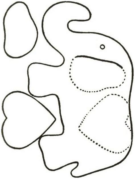 elephant template for preschool elephant pattern to practice cutting for