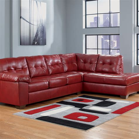 ashley durablend sectional signature design by ashley alliston durablend 2 pc