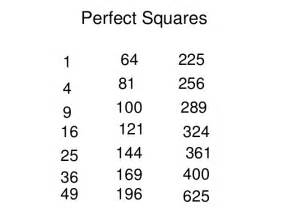 Square Root Of 289 Squares Cubes And Roots Edmodo 2013 14