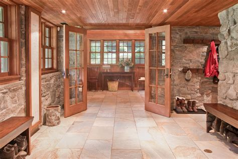indoor stone walls Kitchen Traditional with none