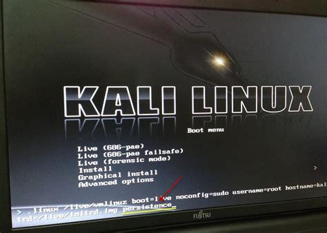 dica kali linux via live pen usb dica kali linux via live pen usb